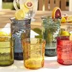 Pottery Barn Colored Drinking Glasses