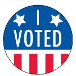 I Voted Sign