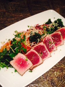 River Falls Tavern Peppercorn and Coriander Seared Rare Tuna