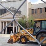 White Flint Mall with bulldozer close-up