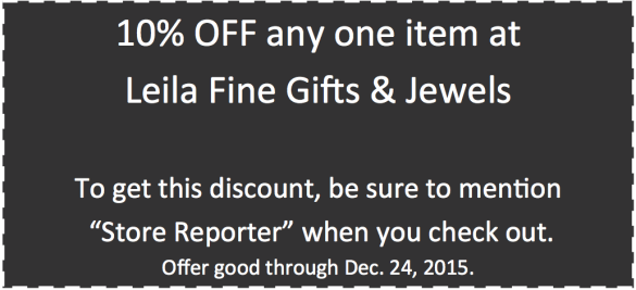 Leila Jewels 2015 holiday coupon 1200