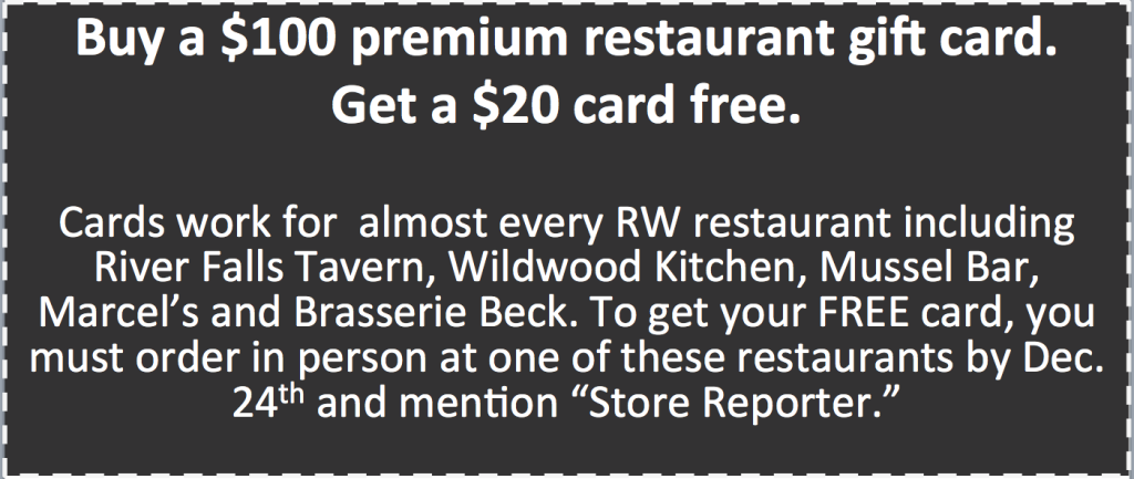 RW Restaurant Group 2015 holiday coupon for web