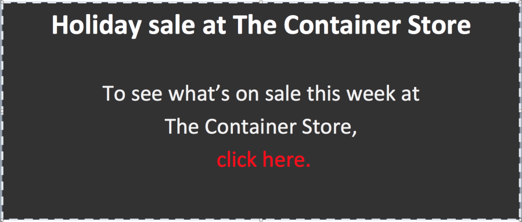 The Container Store 2015 holiday coupon for web