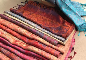 Ibhana paisley scarves wide shot
