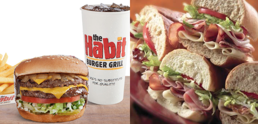 Habit Burger and Jersey Mike's Subs