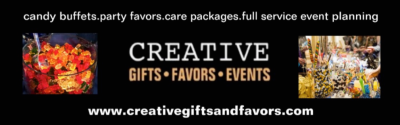 Creative Gifts & Favors ad: www.creativegiftsandfavors.com