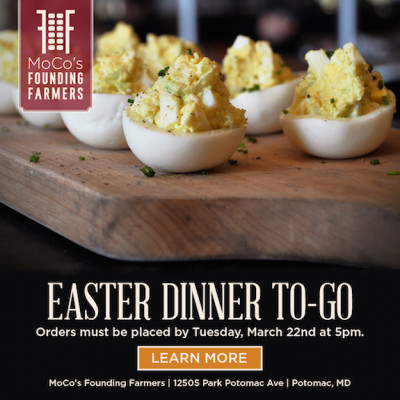 MoCo's Founding Farmers Easter Dinner To-Go ad