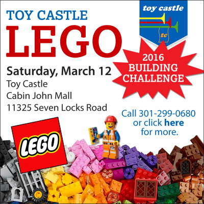 Toy Castle Lego Building Contest ad: https://www.facebook.com/toycastlepotomac/?fref=ts