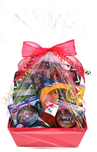 Store Reporter kids' gift basket