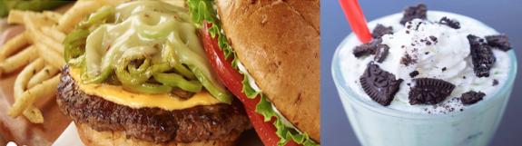 Smasburger burger and fries