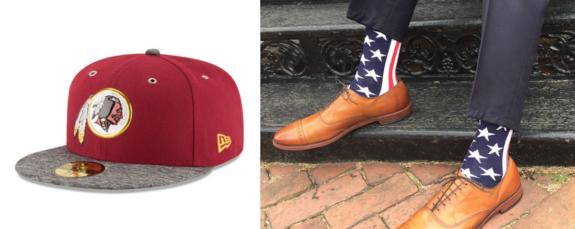 Redskins Team Store:Liberty Socks collage