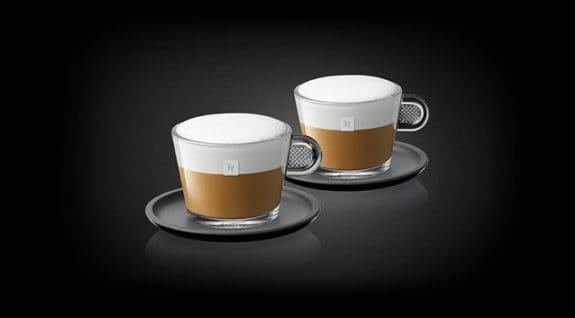 Nespresso cups with foam