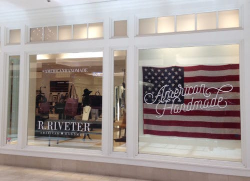 R. Riveter storefront at Westfield Montgomery Mall