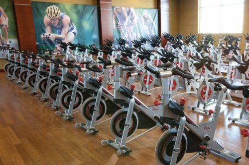 Life Time Athletic Gaithersburg spin bikes