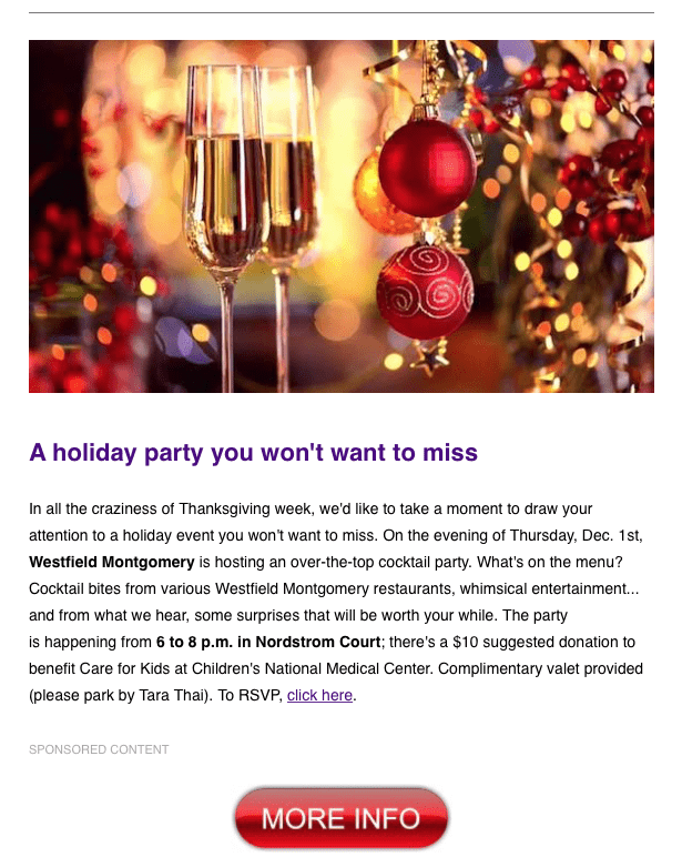 2016-westfield-montgomery-mall-holiday-party-sponsored-email