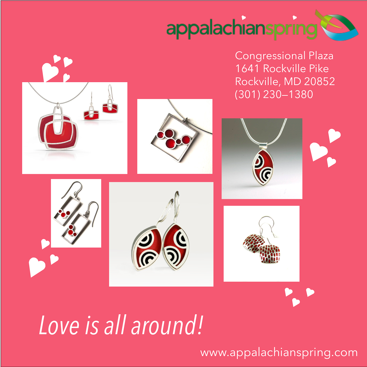 Appalachian Spring at Congressional Plaza: https://www.appalachianspring.com/category.cfm/crafts/jewelry