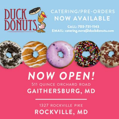 Duck Donuts in Rockville and Gaithersburg: https://duckdonuts.com/locations/rockville-md/
