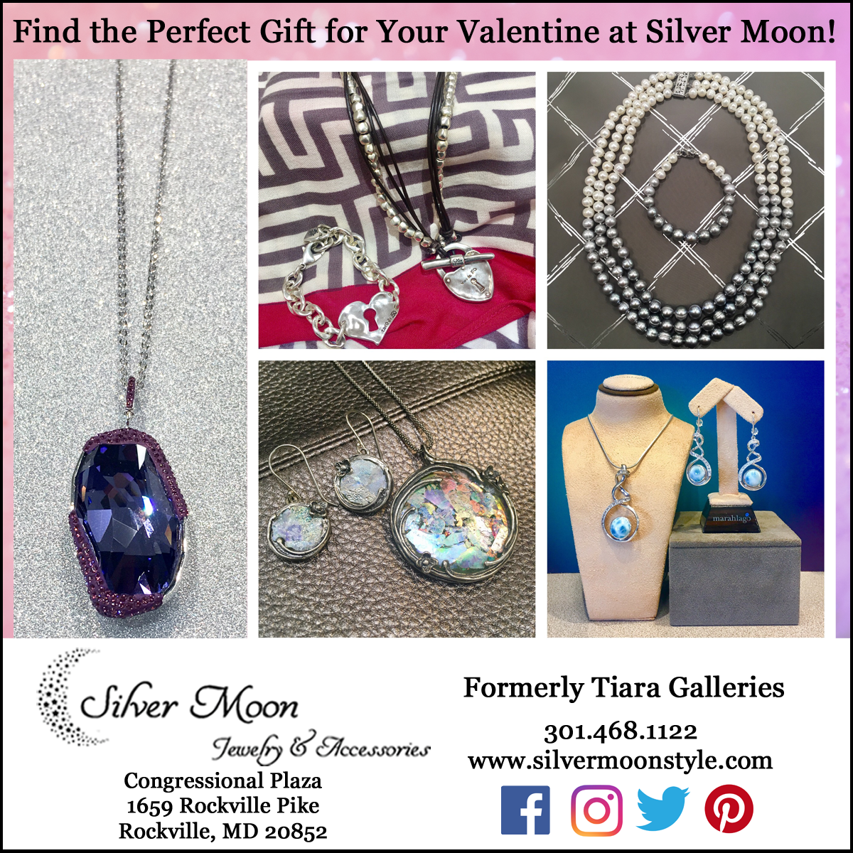 Silver Moon Jewelry & Accessories at Congressional Plaza: http://www.silvermoonstyle.com