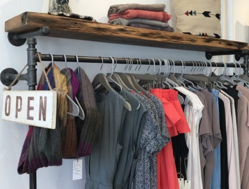 Rack of clothing from Oak