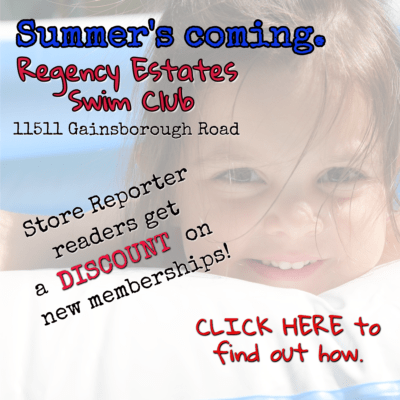 For membership discount information at Regency Estates Swim Club, email publisher@storereporter.com