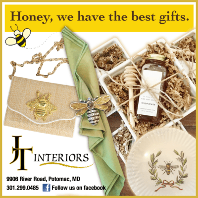 Gifts at JT Interiors: https://www.facebook.com/jtinteriorspotomac/