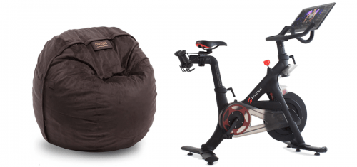 Lovesac and Peloton bike