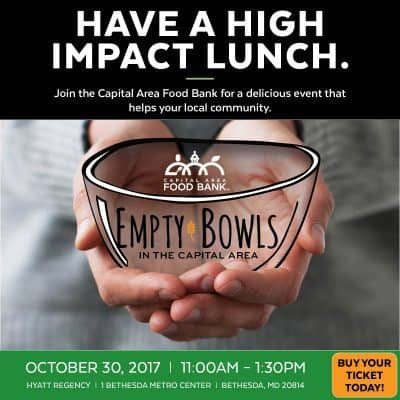 Capital Area Food Bank Empty Bowls fundraiser: https://www.capitalareafoodbank.org/empty-bowls/
