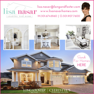 Realtor Lisa Nasar at Long & Foster: http://www.lisanasarhomes.com