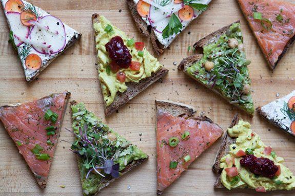 Sandwiches at Le Pain Quotidien