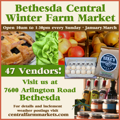Bethesda Central Winter Farm Market: http://bethesda.centralfarmmarkets.com
