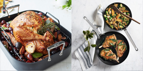 Roasters and pans from Sur La Table and Williams Sonoma