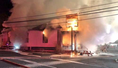 Hank Dietle's burning down