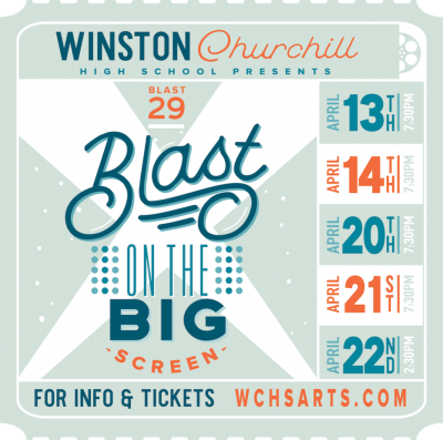 Blast at Winston Churchill High School: https://events.ticketprinting.com/event/Blast-29-Blast-On-The-Big-Screen-25288