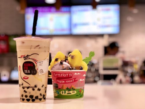 Kung Fu Tea and Tutti Frutti frozen yogurt at Pike & Rose