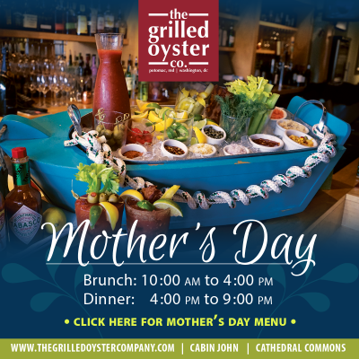Mother's Day at The Grilled Oyster: https://www.thegrilledoystercompany.com/special-events
