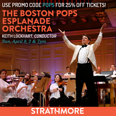 Boston Pops at Strathmore: https://www.strathmore.org/events-and-tickets/boston-pops-esplanade-orchestra?utm_source=StoreReporter&utm_medium=Ad&utm_campaign=PopsPromo