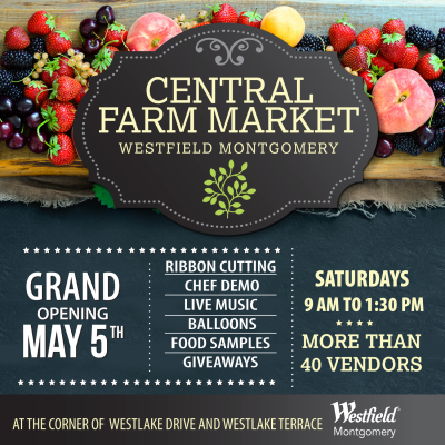 Central Farm Market at Westfield Montgomery: http://www.centralfarmmarkets.com