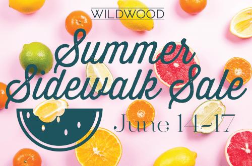 Summer Sidewalk Sale at Wildwood Shopping Center